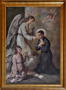 Św. Stanisław Kostka – szczególny patron młodzieży polskiej (obraz z prezbiterium Kościoła w Klementowicach)